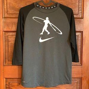 Nike Boys baseball 3/4 sleeve